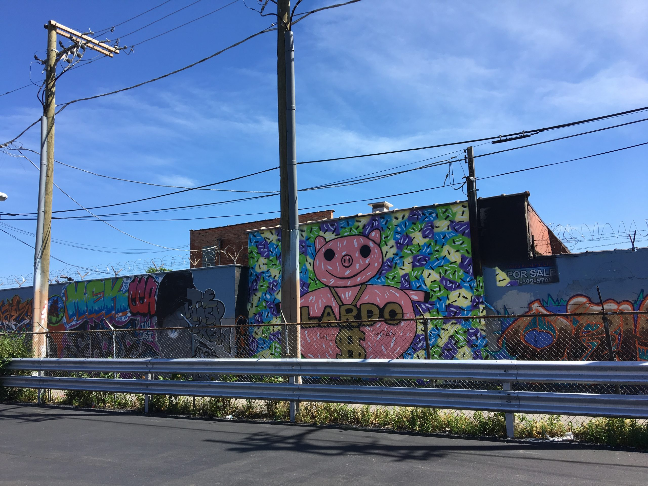 Project Logan's north wall, which faces Fullerton Avenue