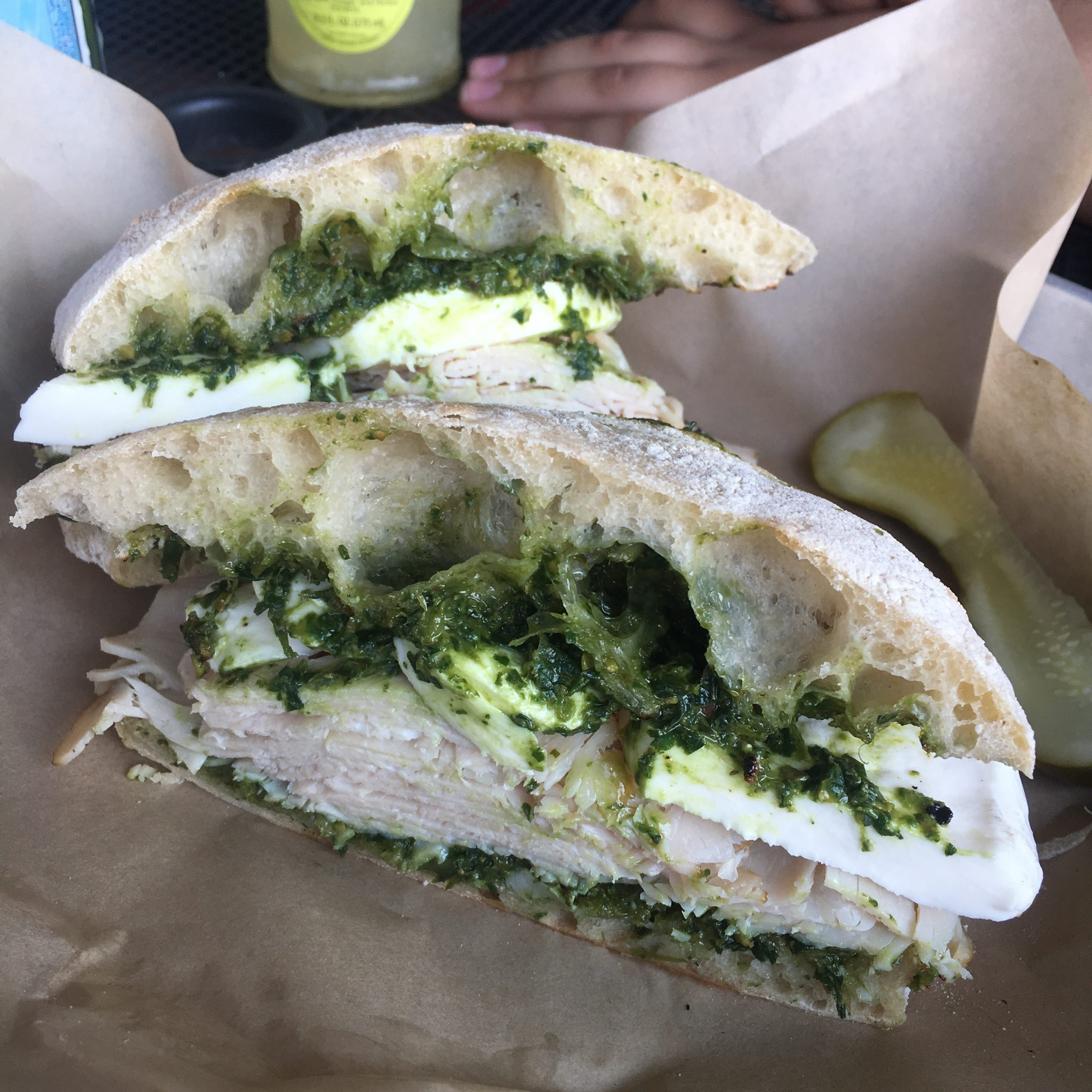 Smoked turkey sandwich, Raduno, Traverse City, MI
