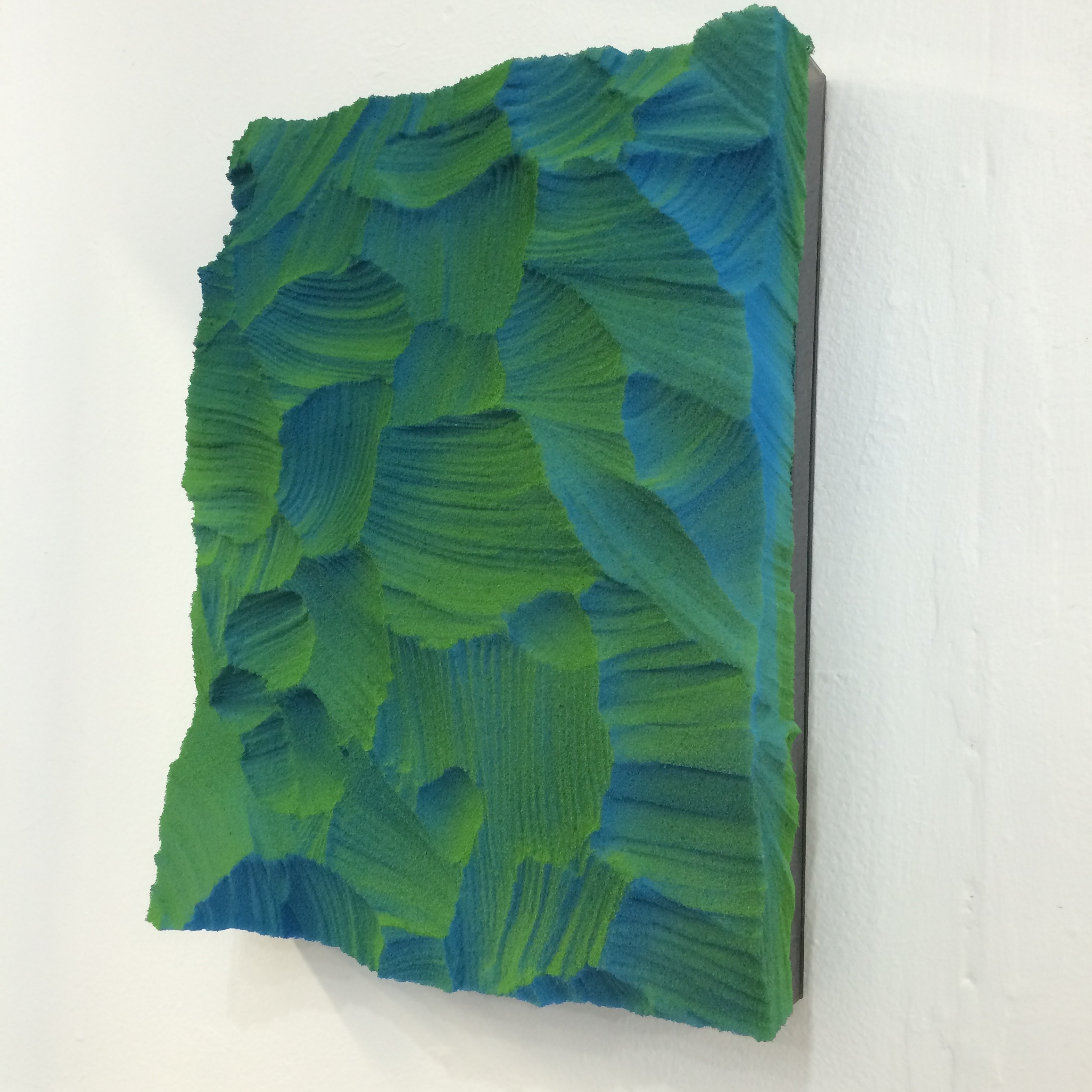 Work by Zachary Buchner, made with memory foam