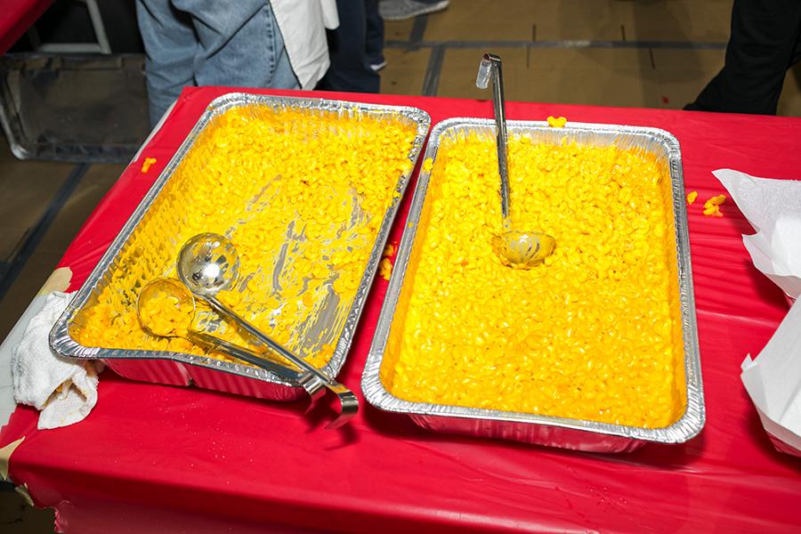 Macaroni and cheese served at Saint Andrew Parish.