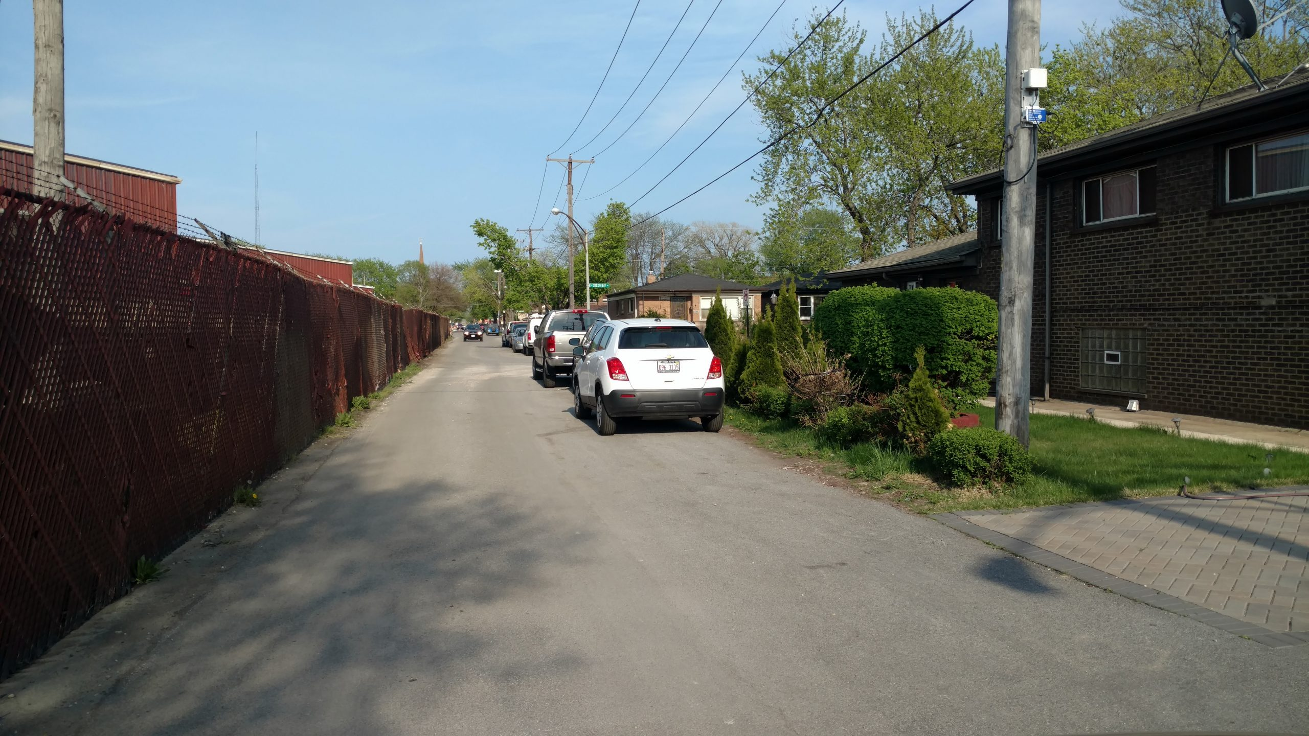 A section of S.H. Bell's property line (left) runs parallel to houses on E. 103rd.