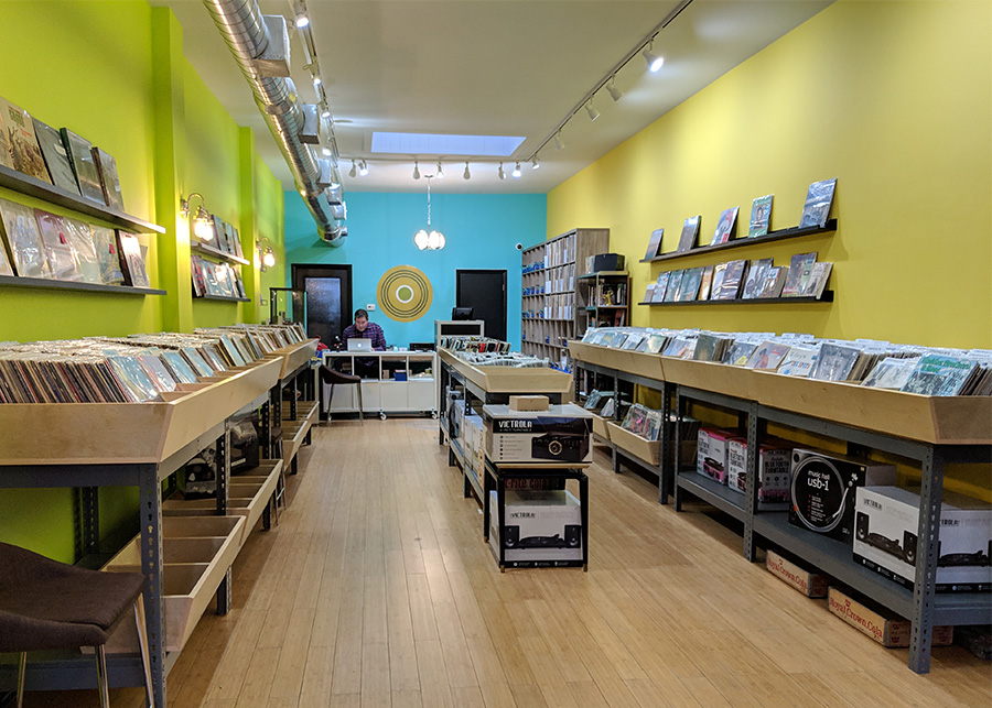 Rattleback sells plenty of vinyl as well as CDs and cassettes.