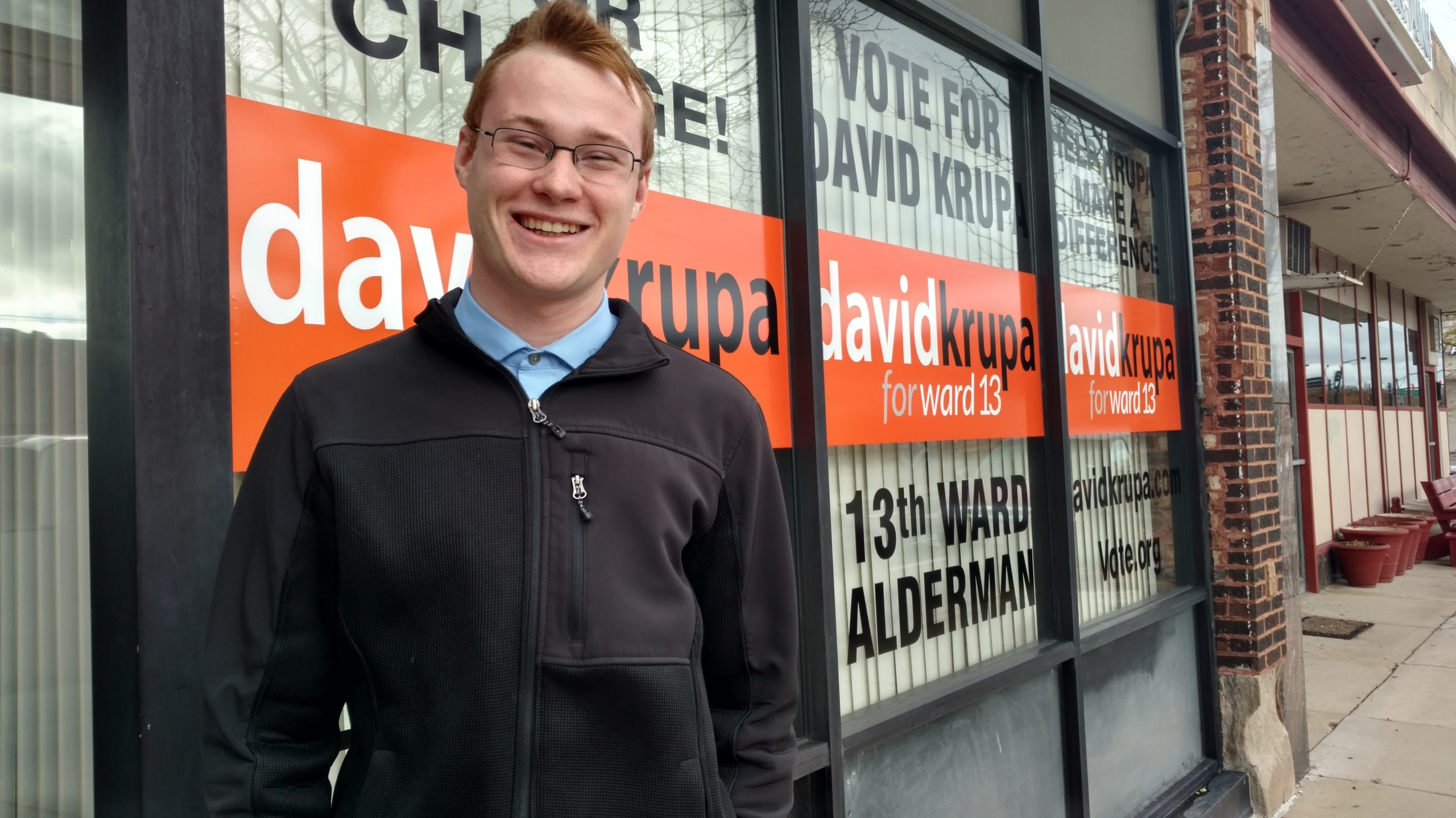 Just two years ago 19-year-old David Krupa was stumping for Trump. Now he's running for alderman as an independent