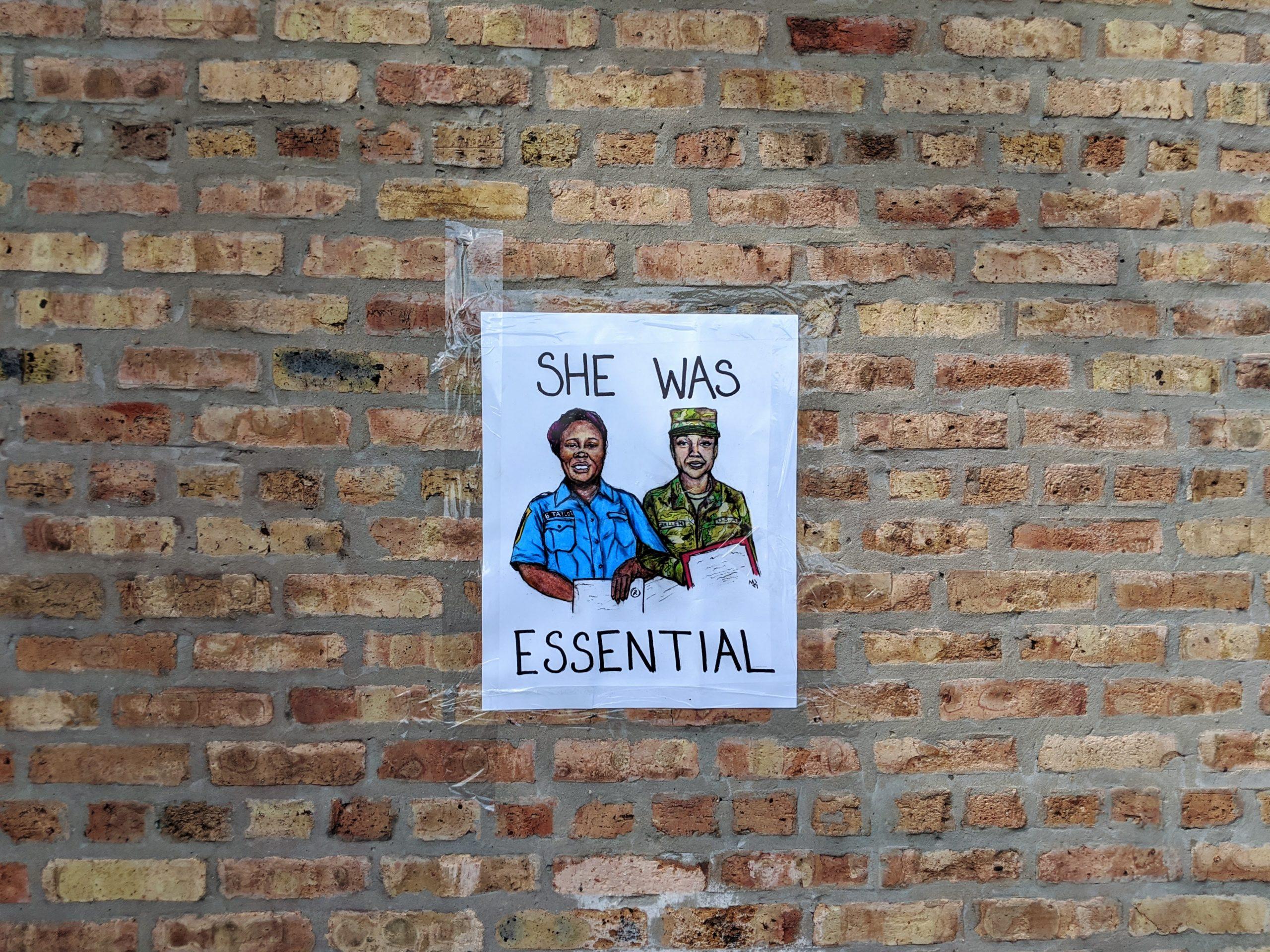"""She Was Essential"" art by Yulisa Baeza"