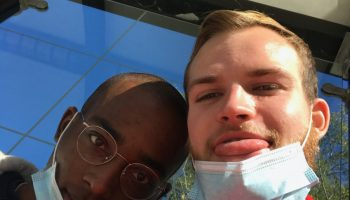 Bryce Rogers and Charlie Kolodziej met at 19-hour sit-in at the University of Chicago Police Department in June and have been together ever since.
