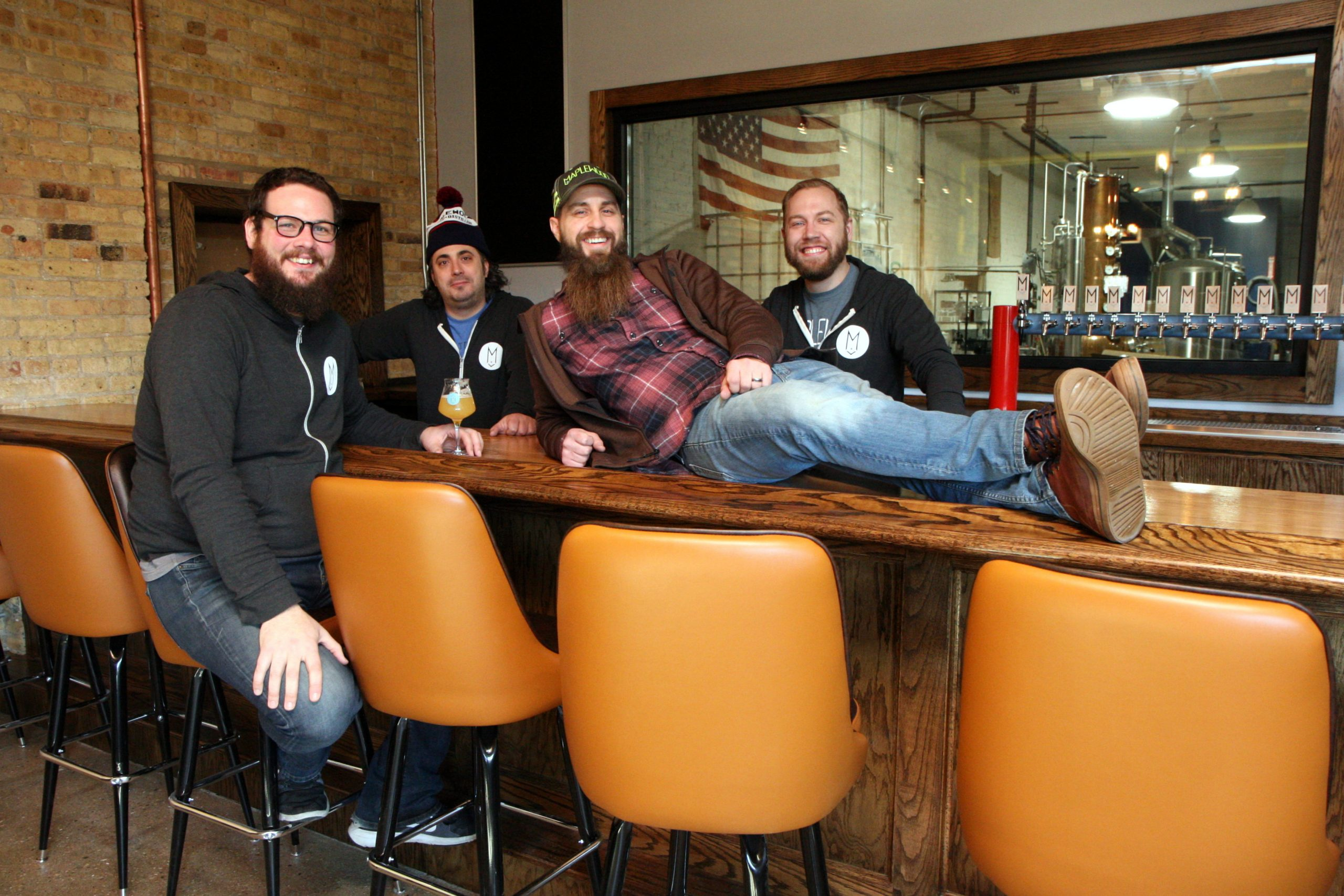 From left: Adam Smith, Ari Megalis, Adam Cieslak, and Matt Frederick
