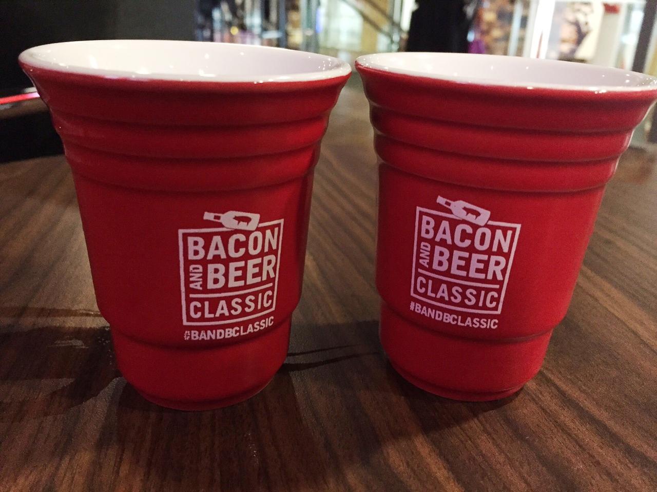 The tasting glasses were mini Solo cups—but ceramic, not plastic
