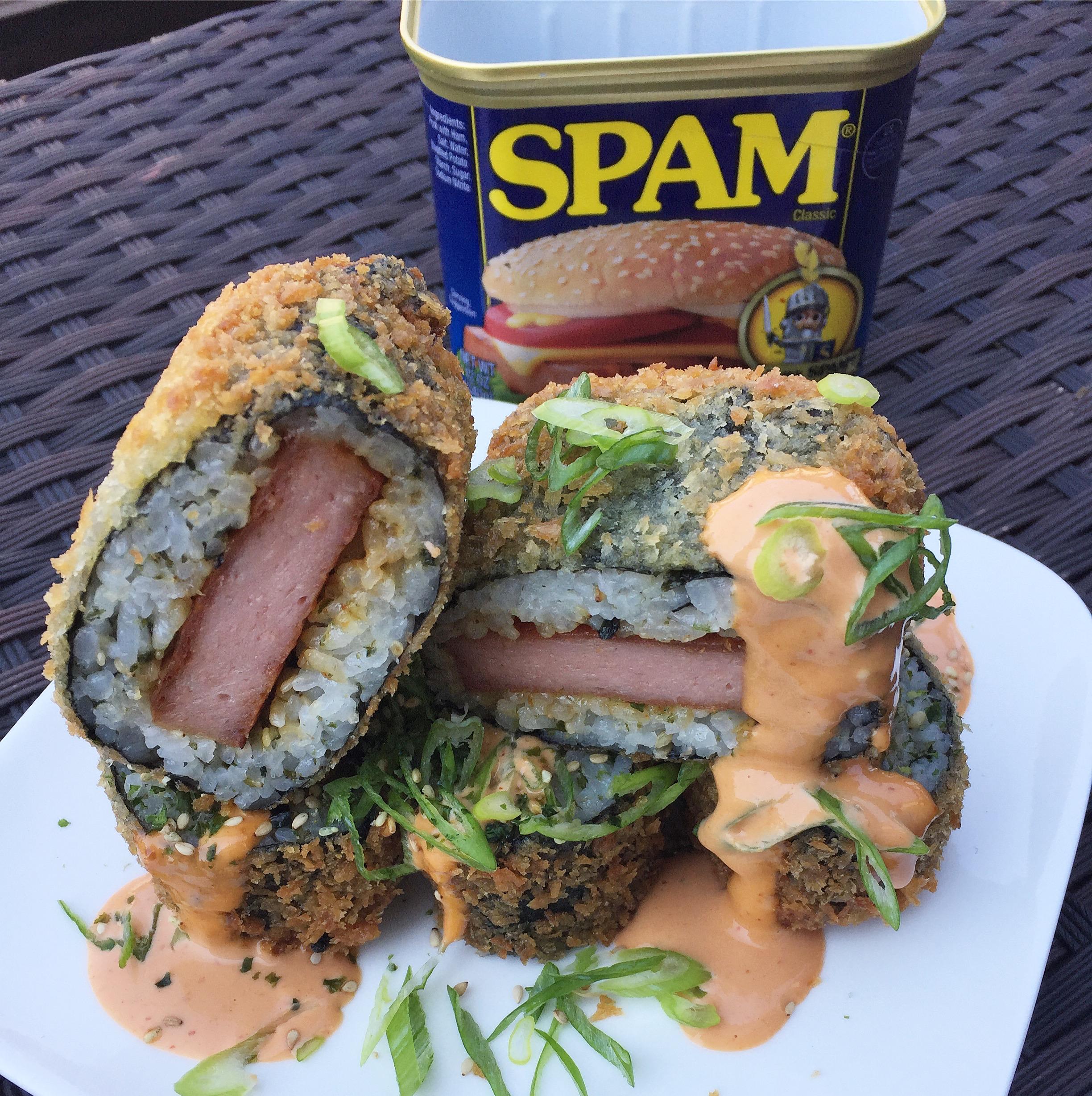 Deep-fried Spam musubi