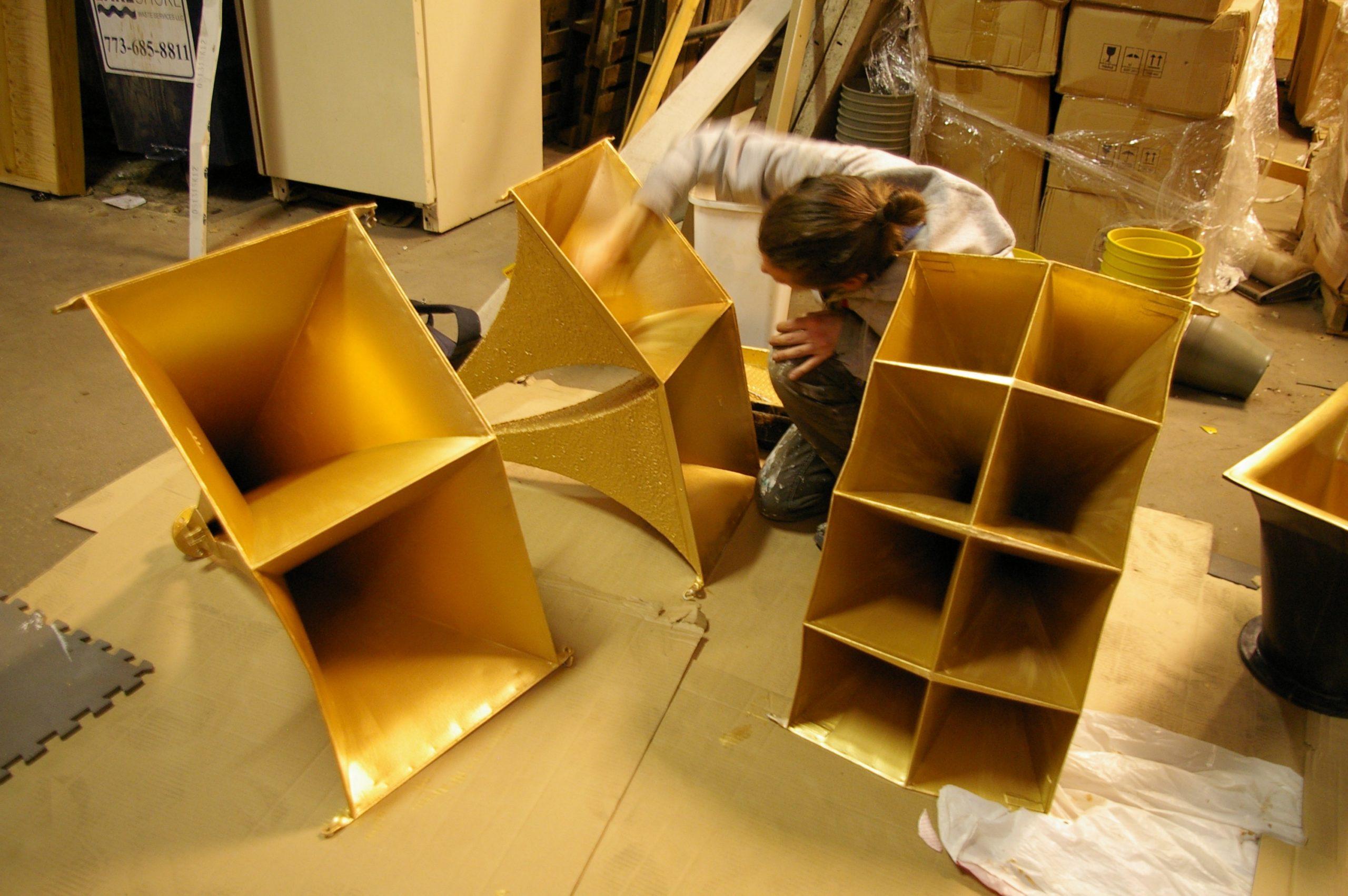 The sound system's golden horns