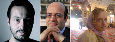 Fabrice Melquiot and Ibrahim El-Husseini, two of the playrights featured in the International Voices Project.