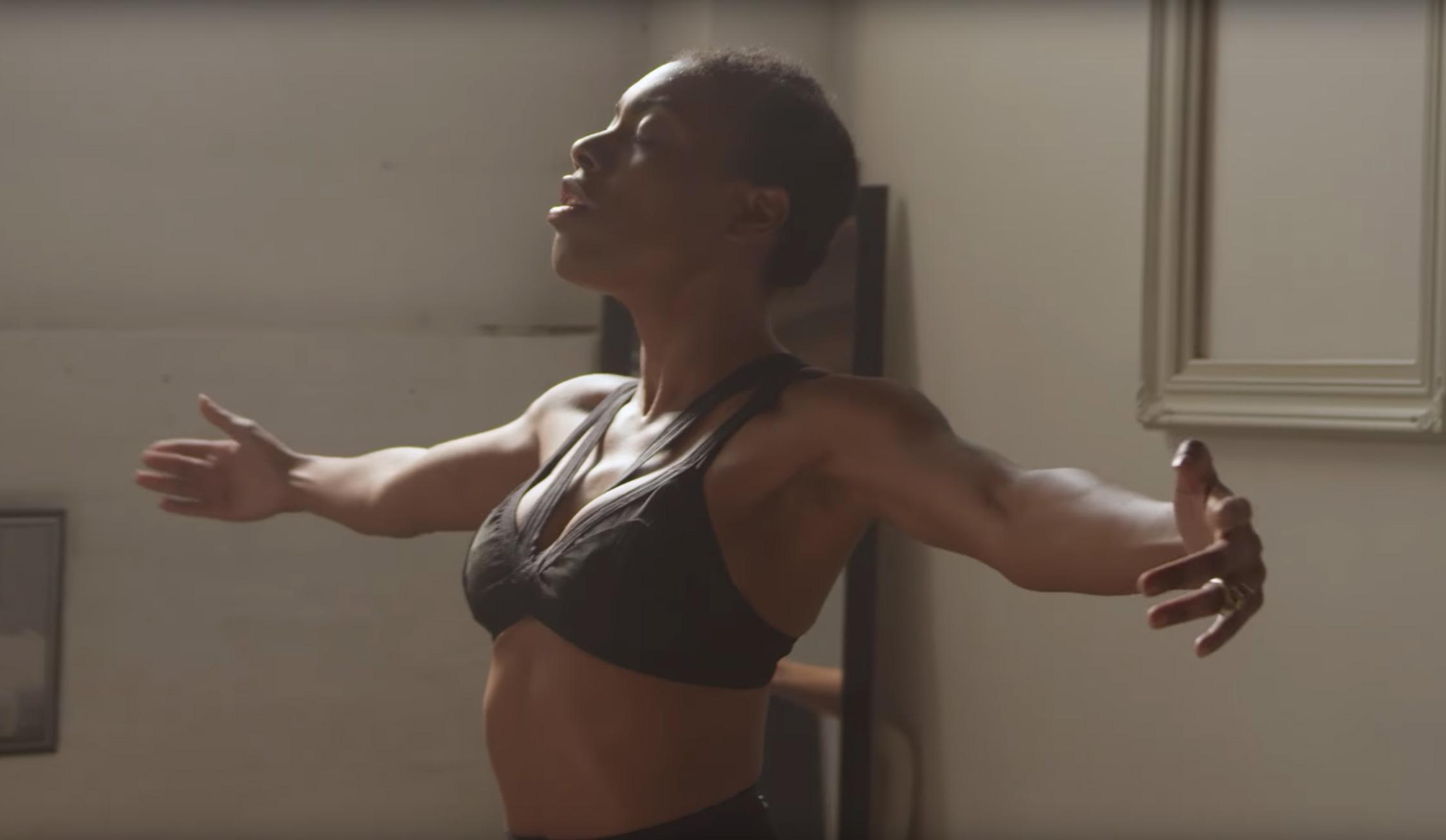 "Jenn Freeman, aka Po'Chop, in the ""Holy"" video"