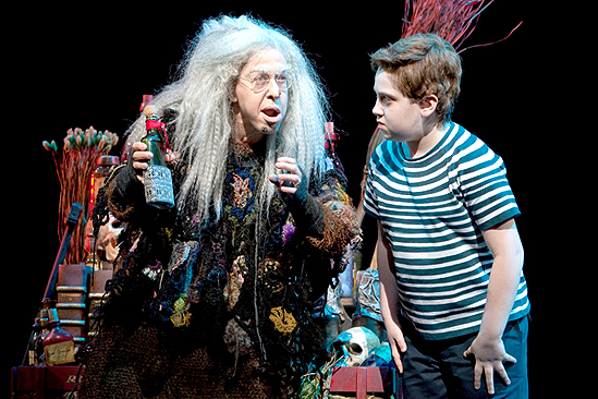 Hoffman as Grandma Addams
