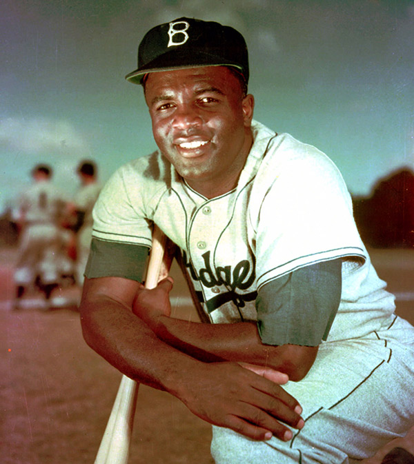 Jackie Robinson, who broke baseball's color barrier in 1947, shown in 1952.