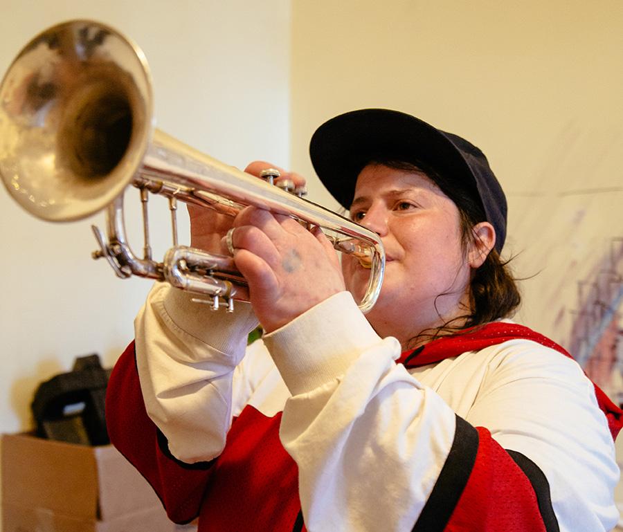 Jaimie Branch's Fly or Die plays Sunday at 12:40PM at Von Freeman Pavilion.