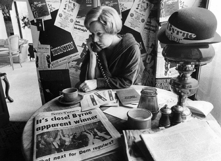 Jane Byrne, who won her long-shot bid for mayor.