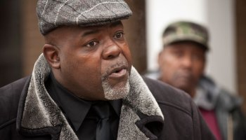 """Jitu Brown of Kenwood Oakland Community Organization wants to send """"busloads of people to Springfield"""" to persuade the state to require an elected school board in Chicago."""