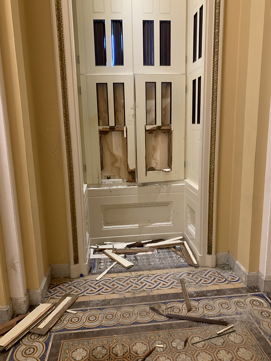 """""""There was very little destruction of property."""" Uh huh. Just ask Senator Bill Cassidy, who took this photo of the riot's aftermath."""