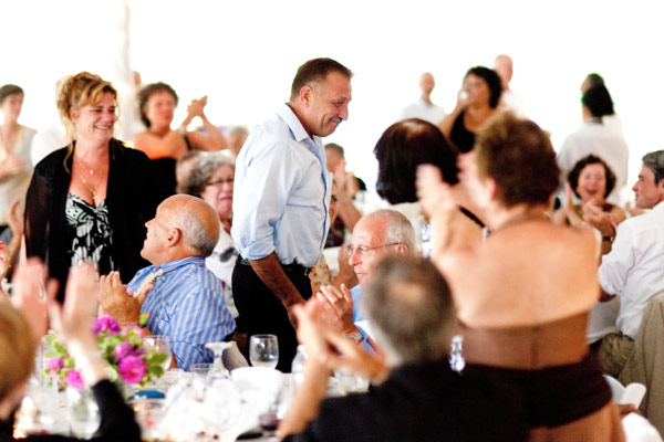 Richard Coco rising during Michael Miner's wedding toast