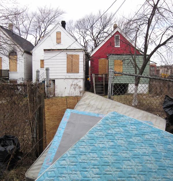 <em>Vacant Houses</em>. Roosevelt and Rockwell, February. By Katherine Hodges, 36, Humboldt Park.
