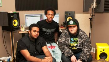 Left to right: Dikembe Caston (aka Kembe X) with fellow Village members Genesis Denton and Alex Wiley