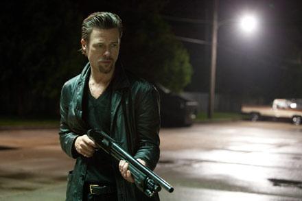 Brad Pitt, not quite killing softly, in Killing Them Softly.