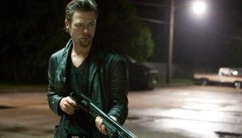 Brad Pitt, not quite killing softly, in <i>Killing Them Softly</i>.