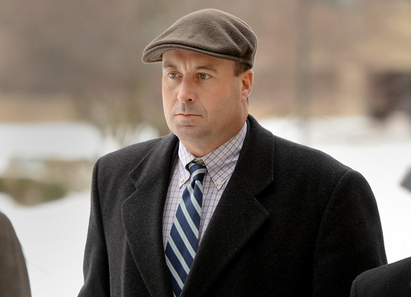 R.J. Vanecko at the Rolling Meadows Courthouse on the afternoon he pleaded guilty.
