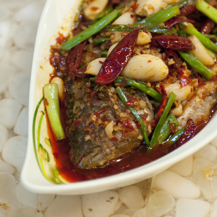 Lao Special Whole Fish, bathed in chiles