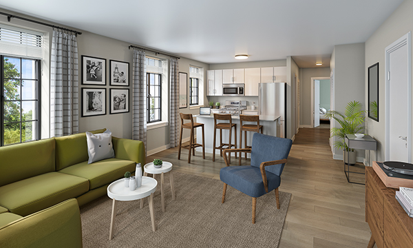 All-new Lathrop apartments will include stainless steel appliances, quartz kitchen counter tops, and in-unit washers and dryers.