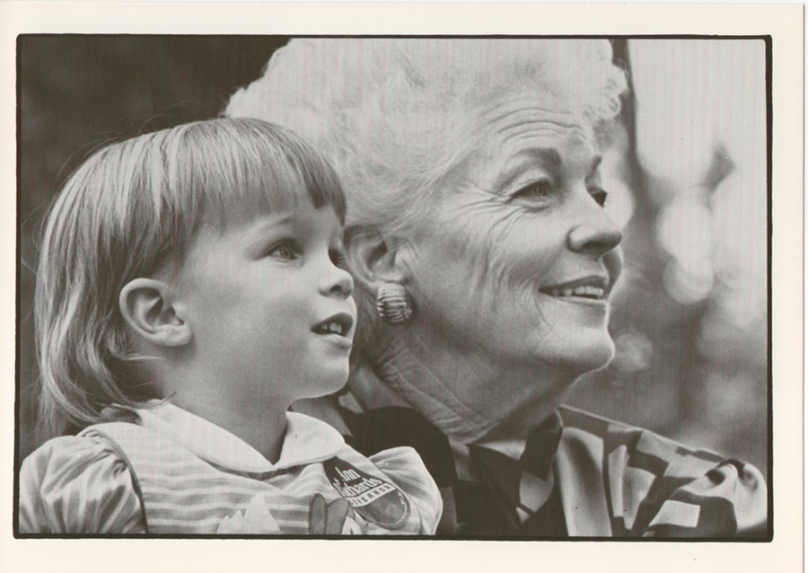 Ann Richards and Lily Adams, Cecile's daughter