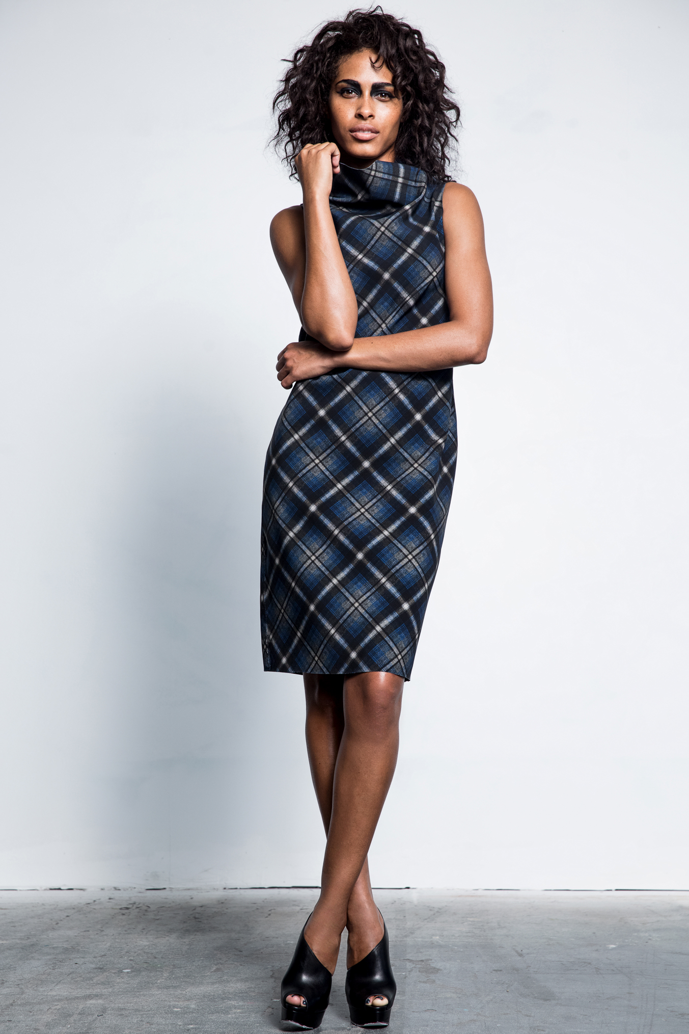 Fall-collection dress featuring M2057's first exclusive print.