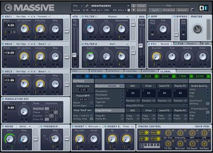Native Instruments' Massive synthesizer