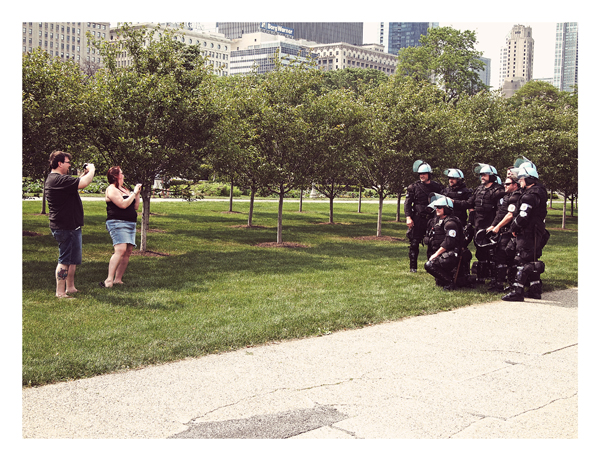 Untitled. Across the street from Buckingham Fountain, May. By Matthew Duff, 31, private dancer, Logan Square