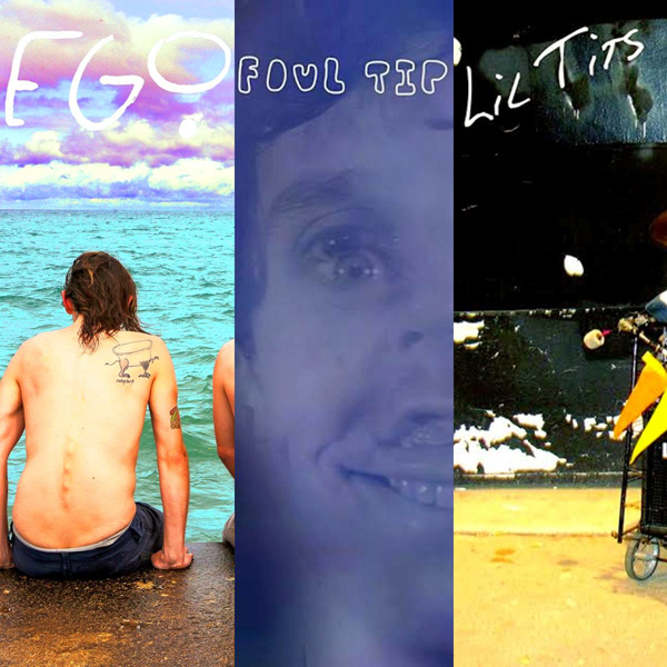 A cover collage of the new Maximum Pelt releases by Ego, Foul Tip, and Lil Tits