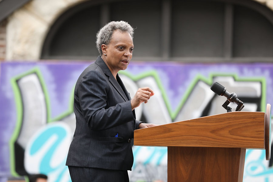 The story that Mayor Lightfoot is sticking with: you've gotta be tough to run a tough city.