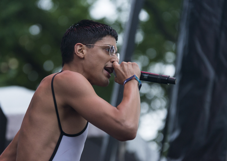 Arca's newest album is his first to feature prominent vocals, and his Pitchfork set did too.