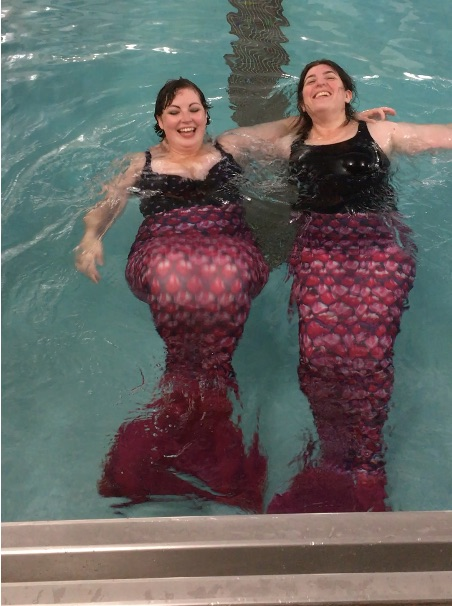 The authors as mermaids