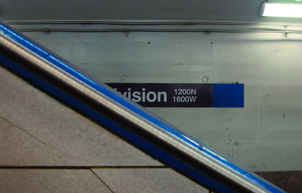 Untitled. Division Blue Line stop, November. By Michael Ritchie