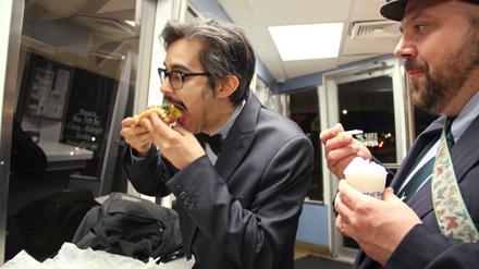 Comedians Michael Sanchez and Monte LeMonte are connoisseurs of after-hours gorging.