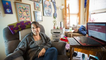 """For Michelle DiGiacomo, """"the cost of defending herself against the law has crippled her more than her diseases ever have."""""""