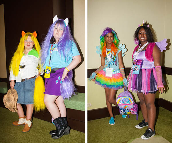 Herds of MLP fans attended the convention in costume