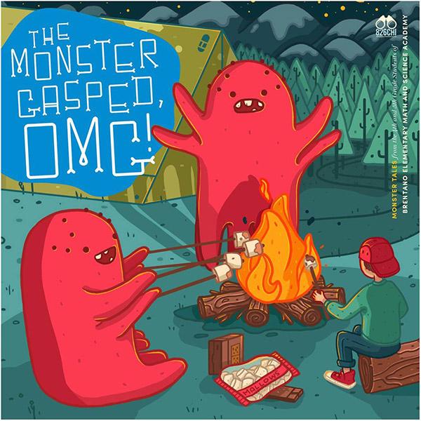 <i>The Monster Gasped, OMG!</i>, cover illustration by Megan Pelto