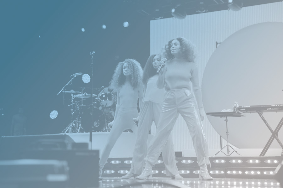 Solange (far right) at the 2017 Essence Festival