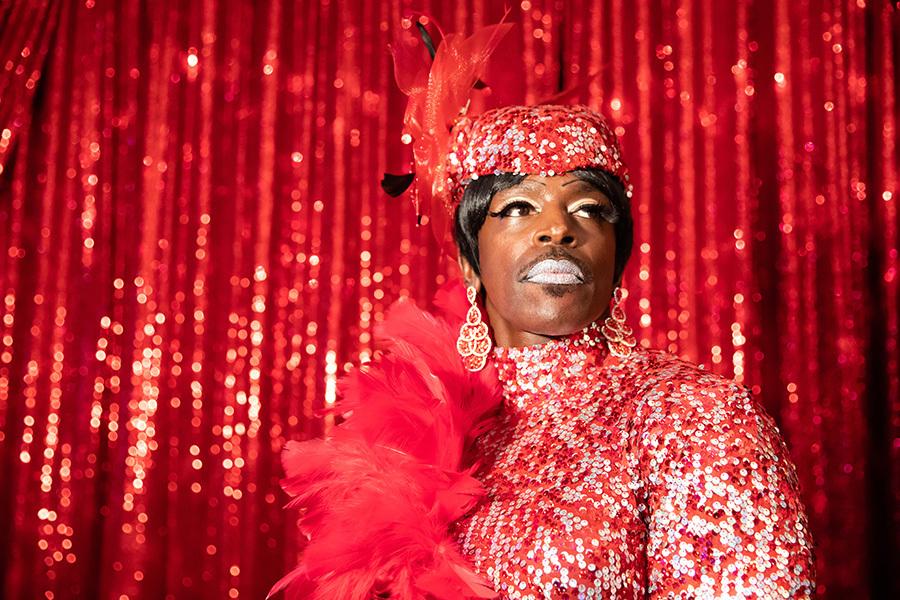 Drag performer Mz. Ruff N' Stuff at Lips Chicago