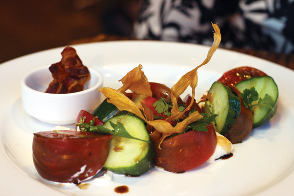 Heirloom tomato salad at Nightwood