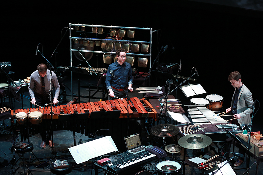 Third Coast Percussion perform <i>Paddle to the Sea</i> at Notre Dame's DeBartolo Performing Arts Center on February 2, 2018.