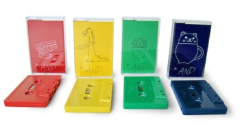 The four colored variants of the Parlour Tapes compilation <i>*And</i>. Each includes one of the four episodes of <i>Emmy Noether</i> by Alexander Thomas Hunter, all of which appear on the digital version.