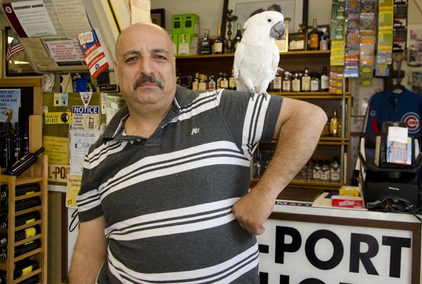Bel-Port Liquor's parrot