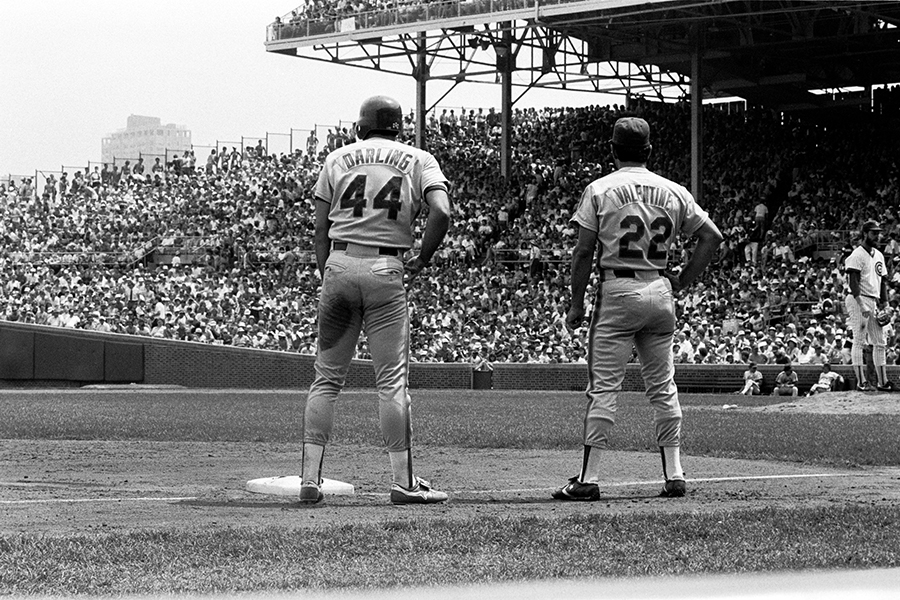 <b>Ron Darling reached third base and was talking to coach Bobby Valentine in 1978<br/>By Paul Meredith</b>