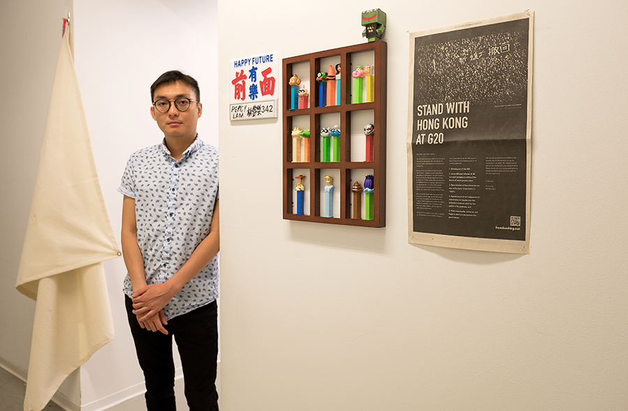 Percy Kam Lok Lam, 28, a graduate student in Fiber and Material Studies at the School of the Art Institute of Chicago.